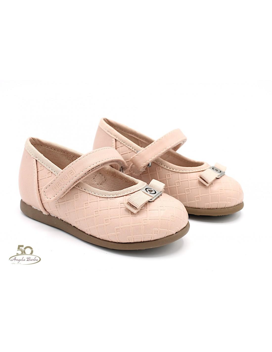 selezione migliore 7e5c5 b11a7 Dettagli su Mayoral scarpe da bambina eleganti per cerimonia ballerina in  pelle ballerine