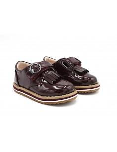 Mayoral scarpe da bambina in vernice bordeaux con frange eleganti 42034