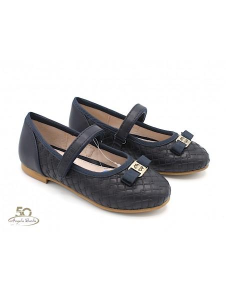 Mayoral scarpe da bambina ragazza eleganti ballerine blu 44003 46003