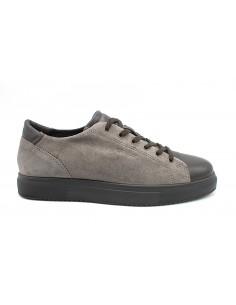 Igi & Co. scarpe da uomo sneakers memory foam in pelle blu 4126866