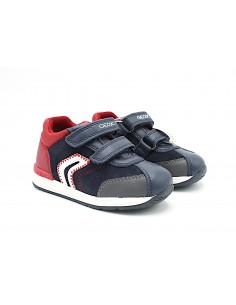 Geox scarpe da bambino primi passi con strappo Blu Rosso B940RB Rishon