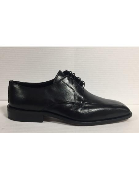 Melluso scarpe uomo classiche in pelle nero suola in cuoio 100% made in Italy
