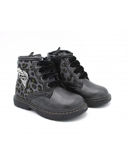 Cafè Noir scarpe da bambina stivaletto color nero con cerniera C341