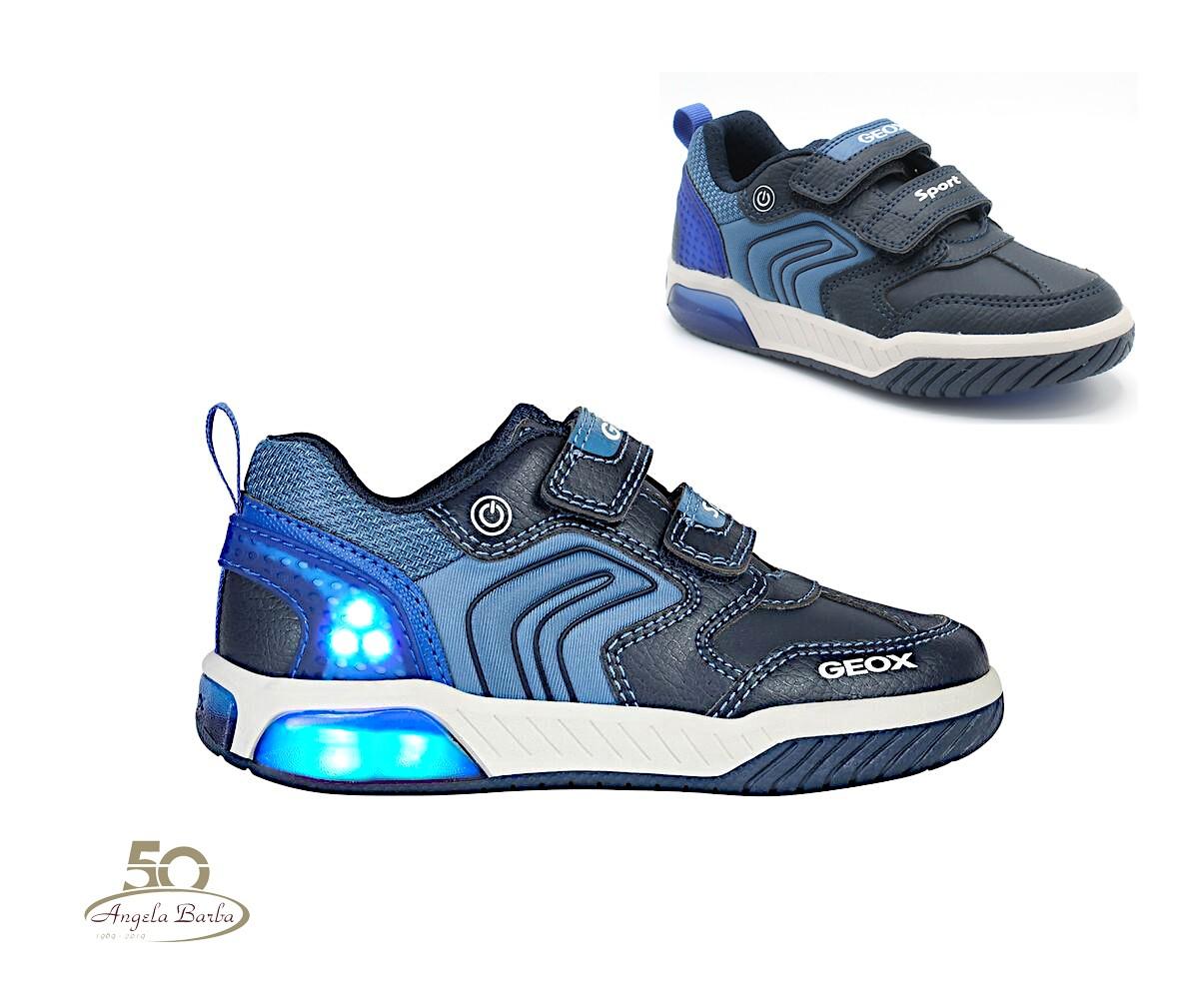 Geox scarpe da bambino con luci led linea Inek J949CD Navy