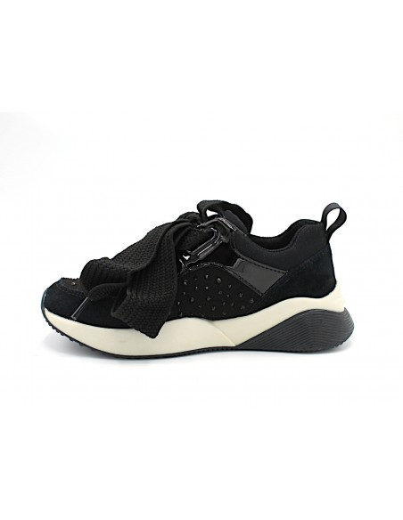 Geox Sinead J949TC scarpe da bambina sneakers ragazza con zeppa nero