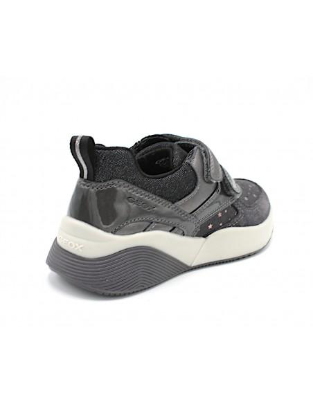 Geox scarpe da bambina con zeppa per donna ragazza Sinead J949TB Grigio