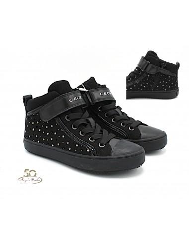 Geox scarpe da bambina alte alla caviglia con lacci elastici Kalispera J744GI Grigio Angela Barba