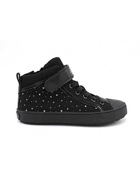 Geox scarpe da bambina alte alla caviglia con lacci elastici Kalispera J744GI Nero