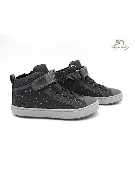 Geox scarpe da bambina alte alla caviglia con lacci elastici Kalispera J744GI Grigio