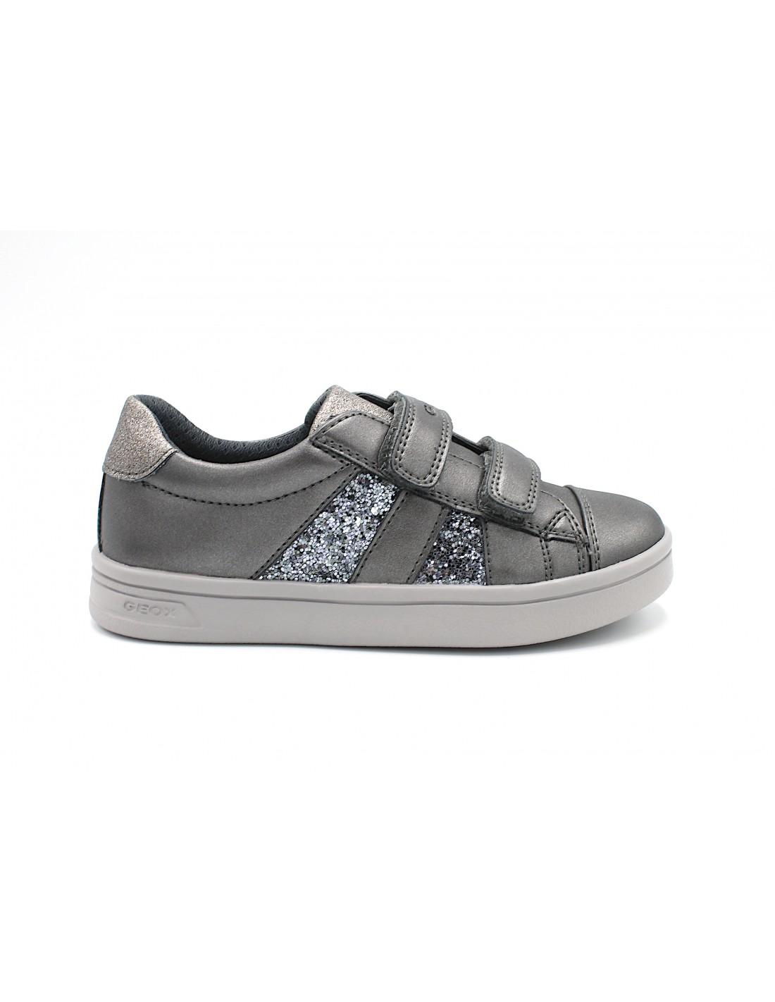 Geox scarpe da bambina in pelle con strappo GRIGIO DjRock J944MC Angela Barba