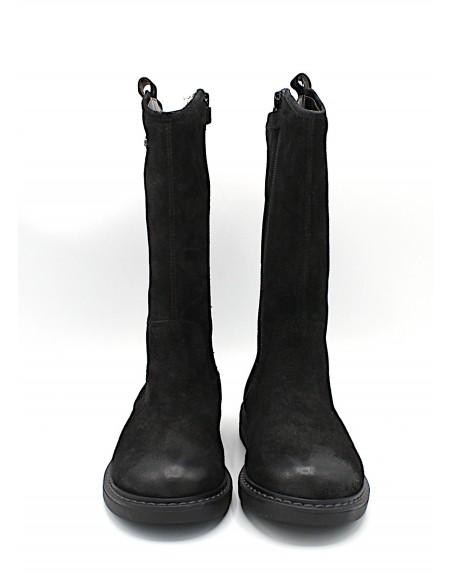 Stivali Geox da donna ragazza bambina in pelle scamosciate nero Eclair J949QE