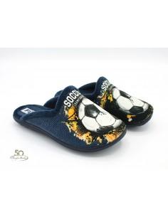 Pantofole da bambino con stampa calcio invernali calde imbottite