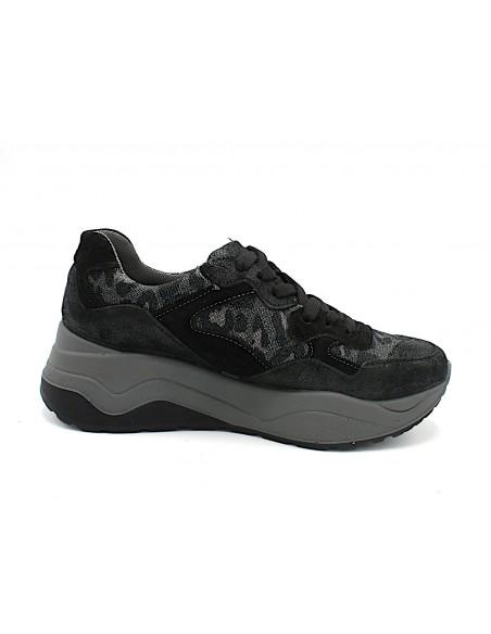 Igi & Co. scarpe da donna sneakers con zeppa platformo nero 4149500