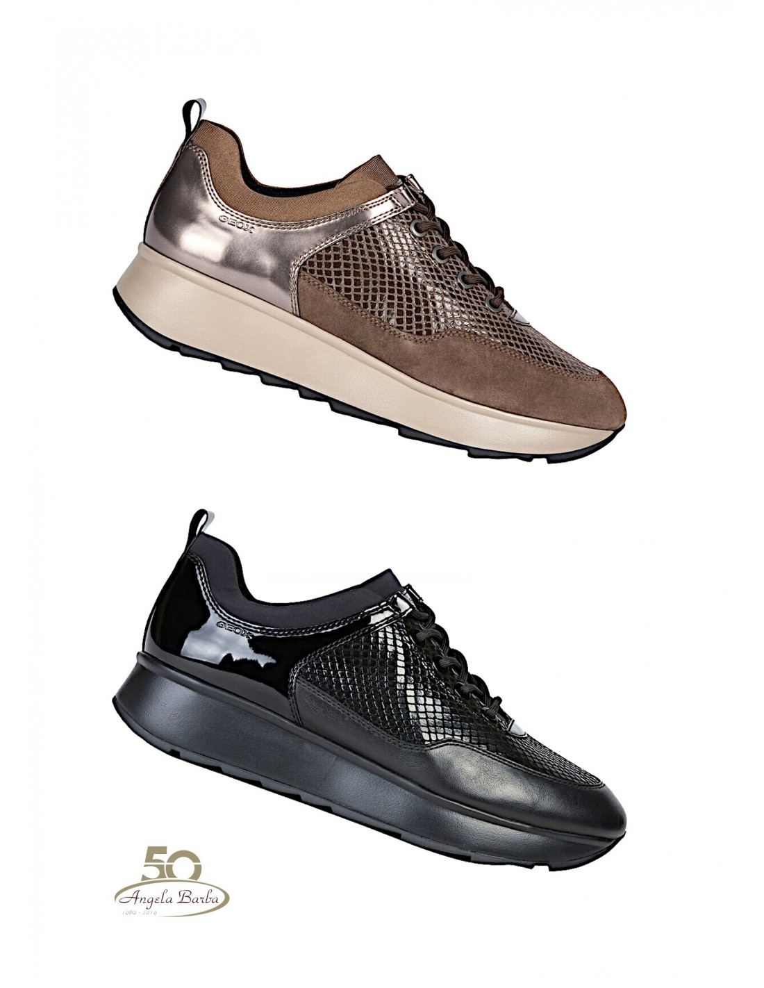 Perth Ciudad suspicaz  Geox Zapatos de Mujer Zapatillas Gimnasia Nuevos Deportivos Cuña Plataforma  Alta | eBay