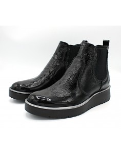 Igi & Co. stivaletti alla caviglia da donna in pelle lucida nero 4168800