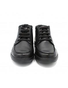 Geox scarpe da uomo comode in morbida pelle nero Leitan U843QA