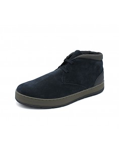 Geox Respira scarpe da uomo polacchine in camoscio blu Ariam U845QC