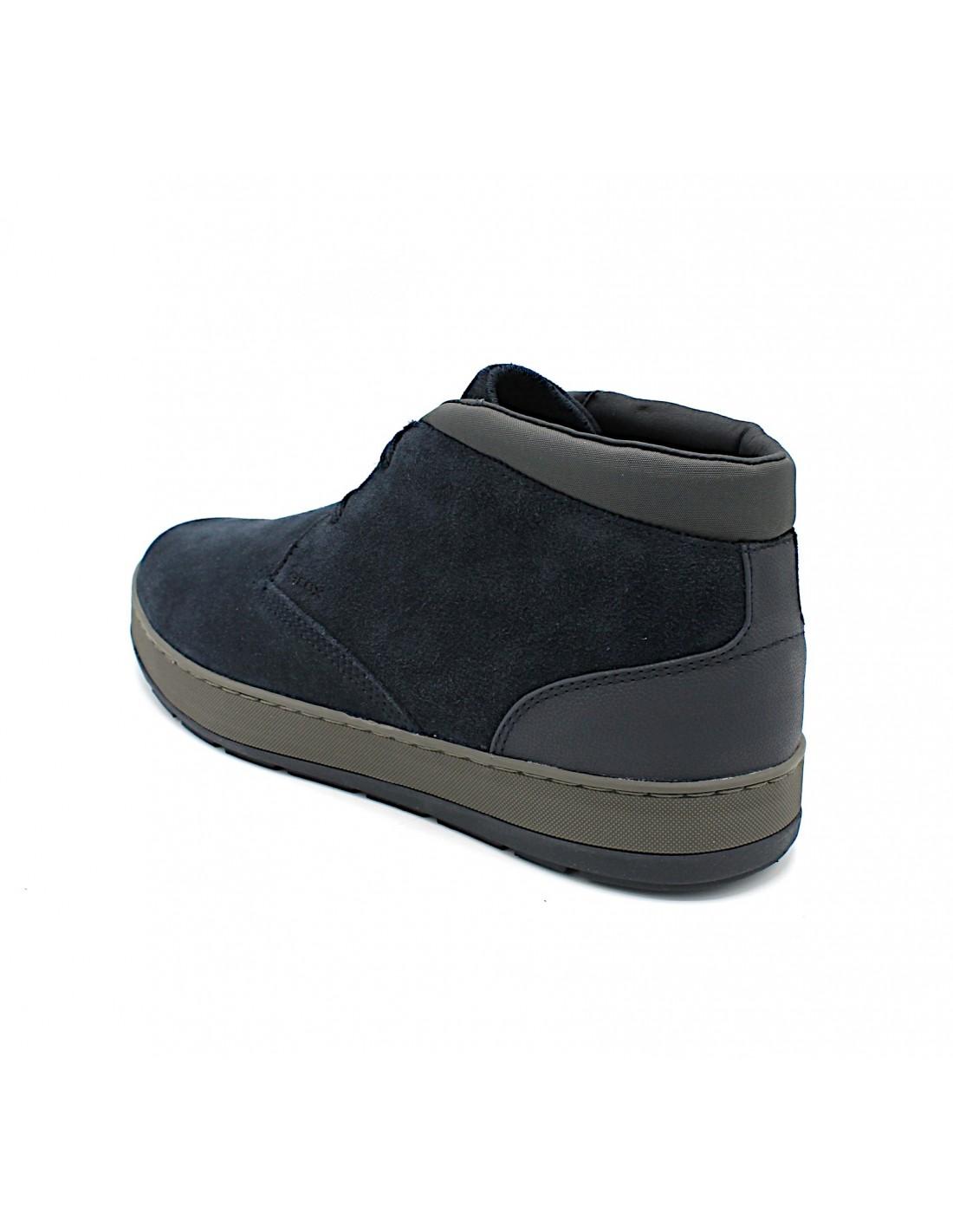 Dettagli su Geox Respira scarpe da uomo polacchine invernali stivletto in camoscio casual