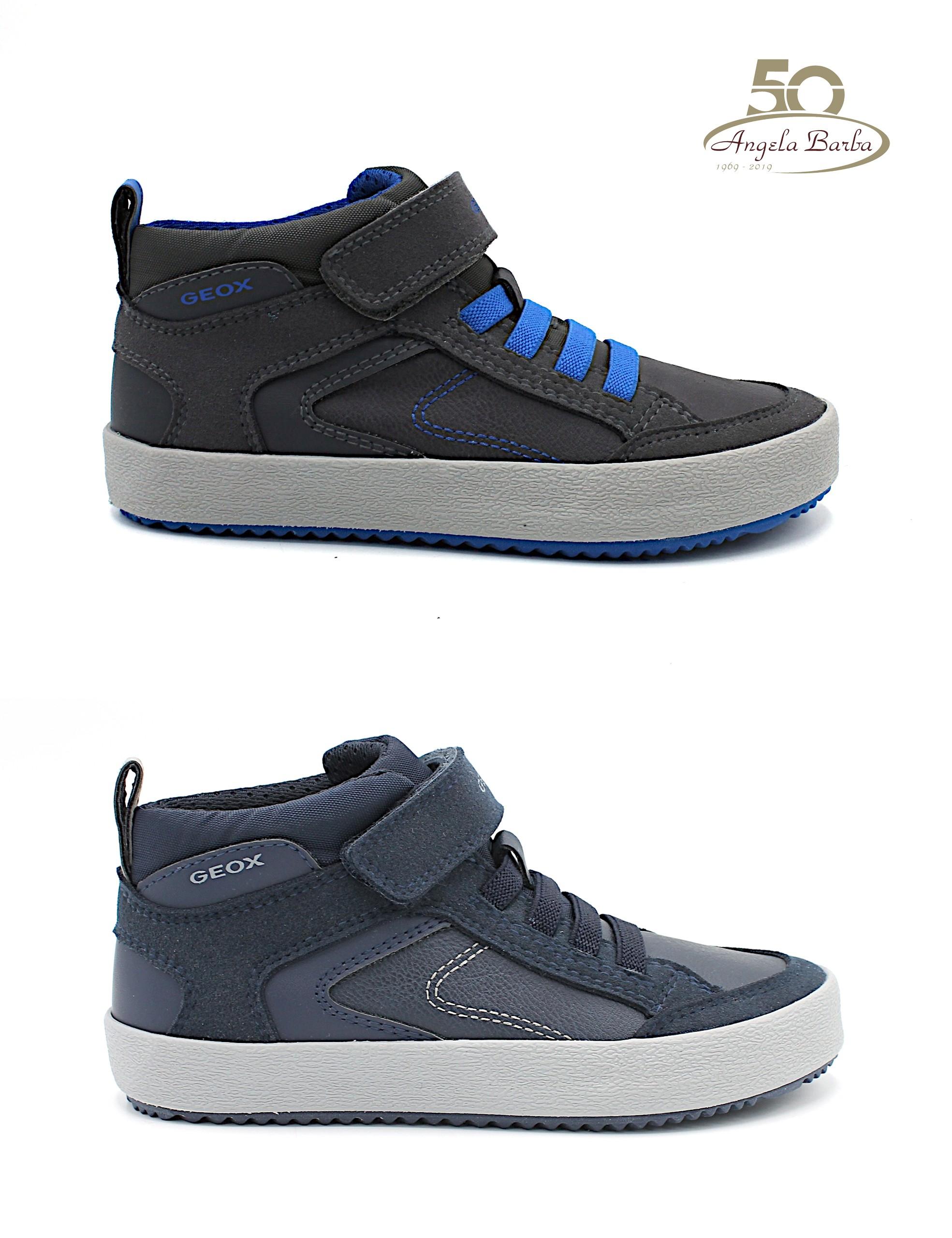 Geox scarpe da bambino sneakers con lacci elastici J942CN