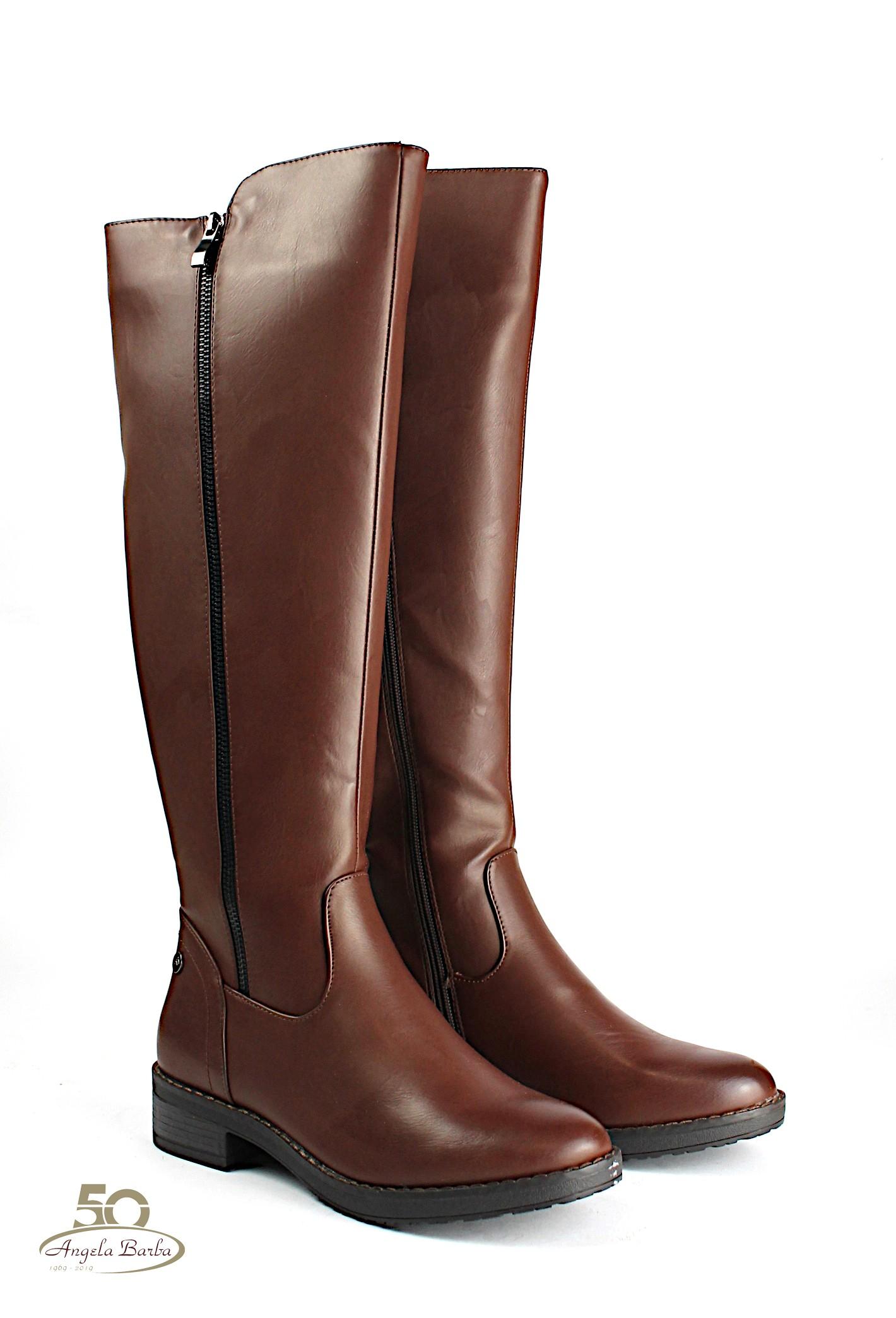 XTI stivali da donna alti al ginocchio con tacco basso Nero