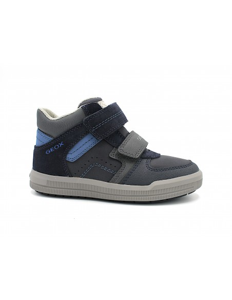Geox scapre da bambino in pelle sneakers alte Arzach Boy J944AB