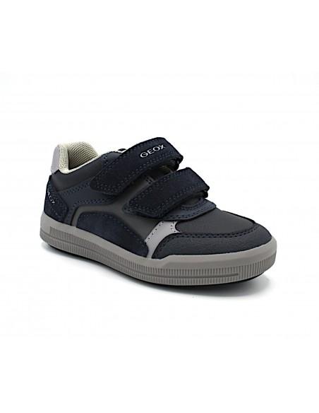 Geox scarpe da bambino in pelle blu con strappi Arzach J944AD