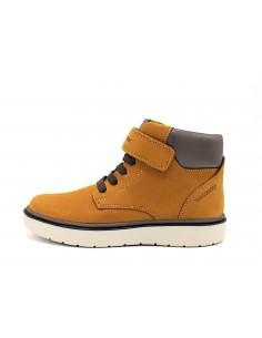 Geox scarpe da ragazzo bambino in pelle giallo Riddock J847TA